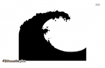Water Waves Silhouette Image
