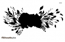 Leaf Border Outline Silhouette