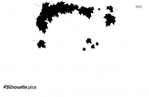 Christmas Leaves Silhouette Clipart
