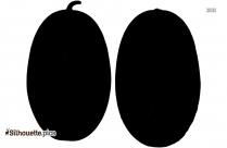 Avocado Silhouette Clipart