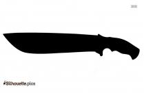 Pendulum Knife Silhouette Drawing