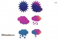 Weather Seasons Clip Art Silhouette