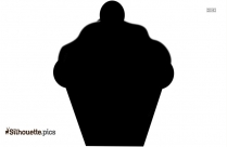 Wedding Cupcakes Silhouette Drawing