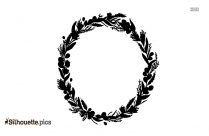 Wedding Flower Crown Symbol Silhouette