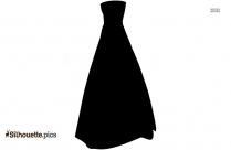 Prom Dress Vector Silhouette