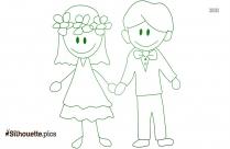 Wedding Stick Couple Clipart Silhouette