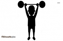 Weight Lifting Silhouette Image