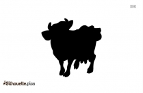 Cow Drawing Silhouette Image