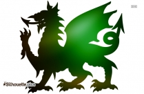Welsh Dragon Silhouette