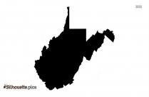 West Virginia Map Silhouette Free Vector Art