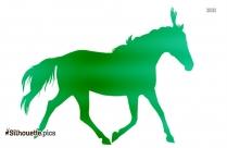 Baby Horse Silhouette Art