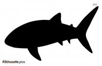 Great White Shark Silhouette Clipart
