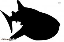 Cartoon Shark Silhouette Clip Art