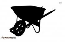 Wheelbarrow Silhouette Icon