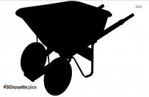 Wheelbarrow Clipart Silhouette