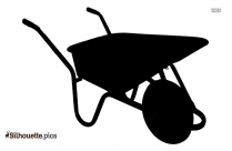 Wheelbarrow Silhouette Road Worker