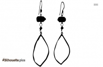 White And Black Plated Pendant Earrings Silhouette