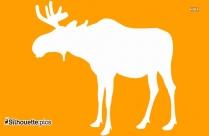 White Moose Silhouette Vector
