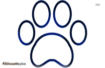 Dog Paw Silhouette Vector And Graphics