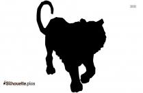 Gorilla Silhouette Illustration