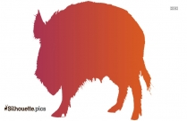 Cartoon Boar Silhouette Clip Art