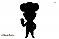 Cartoon Female Chef Silhouette