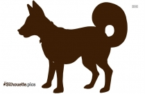 Wild Dog Vector Silhouette