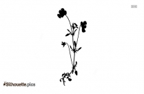 Funeral Flowers Silhouette Image