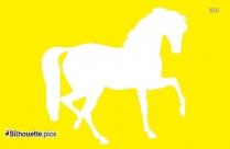 Cartoon Horse Riding Silhouette Image