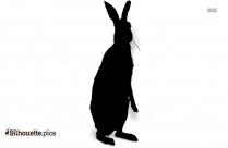 Cartoon Rabbit Silhouette Clip Art