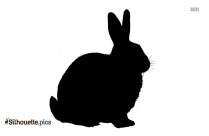 Rabbit Drawing Silhouette Picture