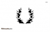 Wildflower Wreath Silhouette Icon