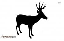 2 Deer Silhouette Clipart