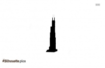 Empire State Building Silhouette Vector Image