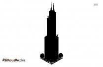Black Willis Tower Silhouette Image