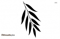 Rose Leaves Silhouette Clipart