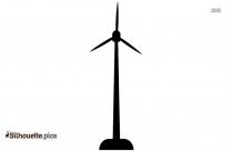 Wind Turbine Silhouette Clipart