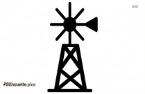 Windmill Farming And Gardening Silhouette