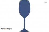 Wine Glass Silhouette, Clipart