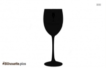 Cartoon Wine Glassware Silhouette Vector