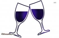 Wine Glass Silhouette Vector