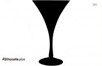 Black Beer Jar Cartoon Silhouette Image