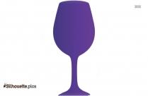 Black Wine Glass Silhouette