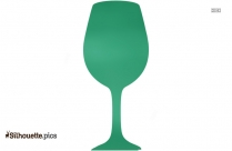 Spilled Wine Glass Clipart Silhouette