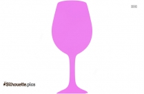 Wine Glass Silhouette Image Vector Drawing