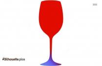 Wine Glass Silhouette Line Art