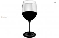 Cartoon Wine Glassware Silhouette Vector
