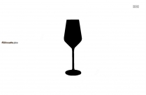 Cartoon Champagne Glass Silhouette