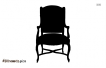 Folding Chair Silhouette Clipart