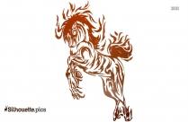 Swirl Tattoo Design Silhouette